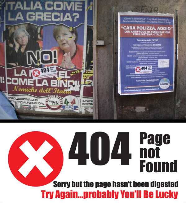 404-not-found-cultural jamming-guerrilla-roma-political