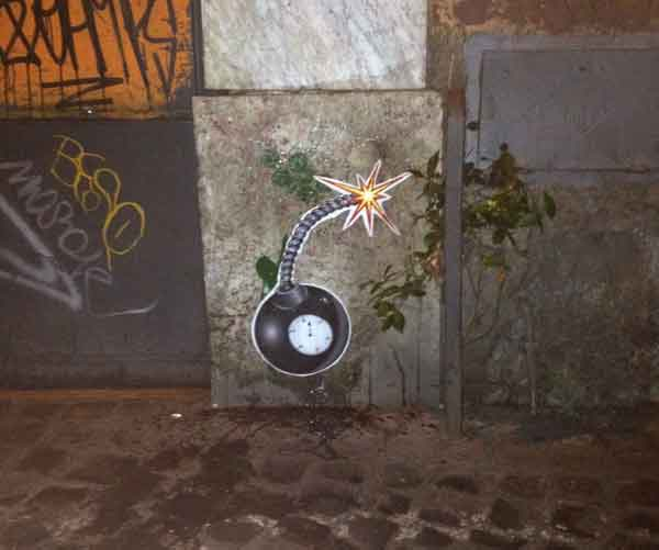 live in comic strip - stencil in trastevere - teaser