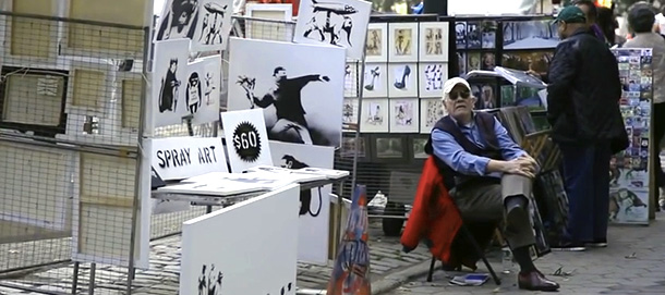 Art sale in new York by banksy