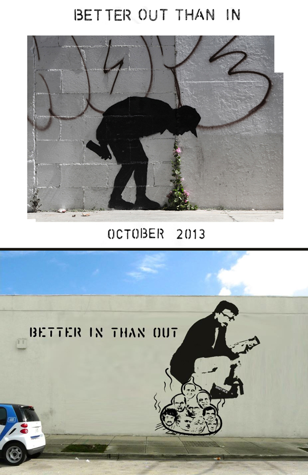 banksy-spoof-shotmcn-better-in-than-out-Better In Than Out - Spoof of Banksy's Project