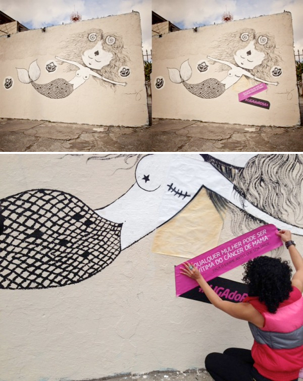 Street Art Against Breast Cancer in Brasil