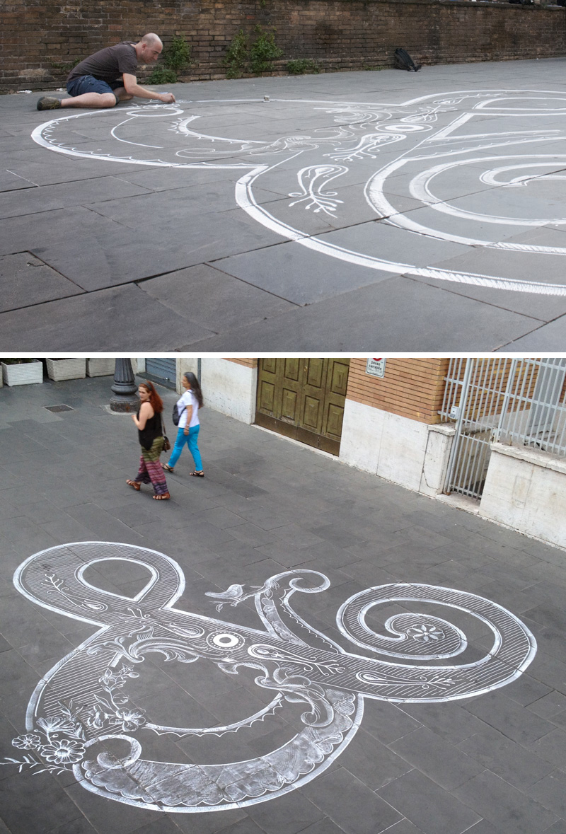Letters & Chalk Art by Tommaso Guerra