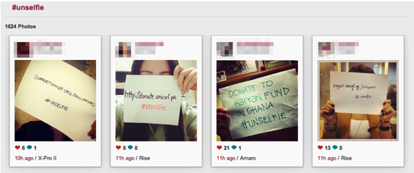 Instagrammers Boosting Aid for Typhoon Victims With #Unselfies