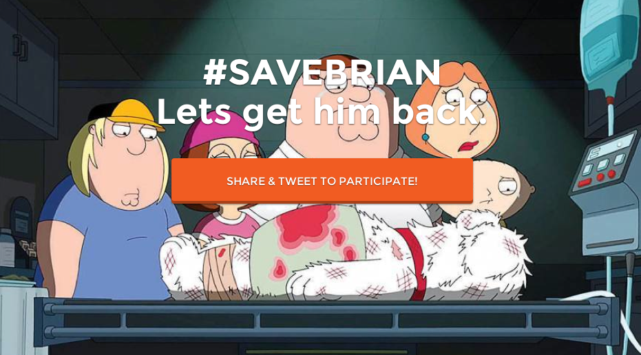#SAVEBRIAN Lets get him back.
