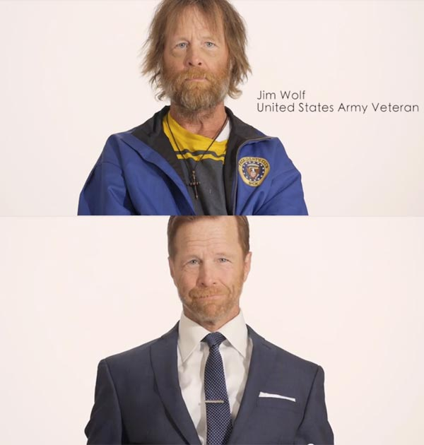 Homeless Veteran Timelapse Transformation - Social Campaign