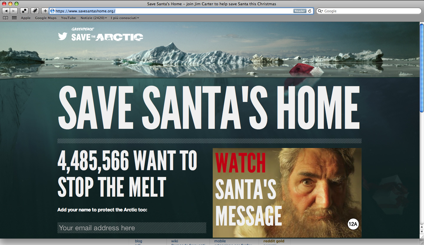 Save Santa's Home - Greenpeace