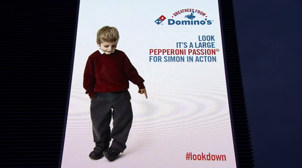 Domino's Pizza Interactive Billboard - #Lookdown