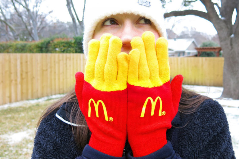 Creative Gloves to promote 	French fries – McDonald's Texas Direct Marketing