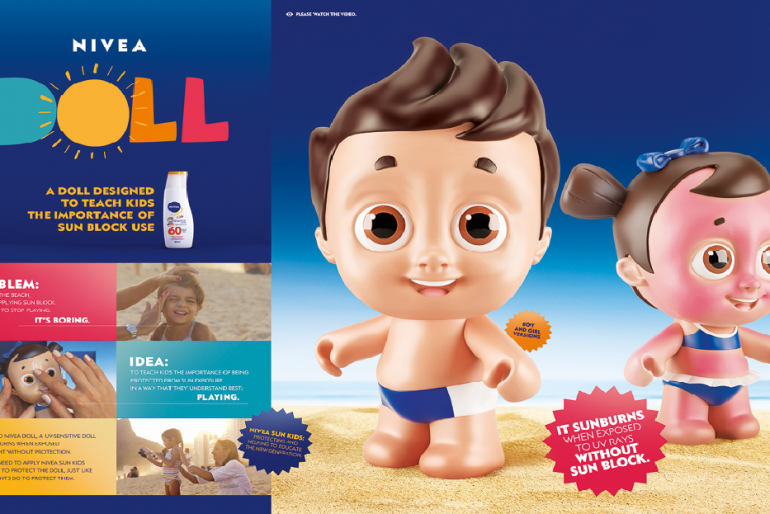 Nivea Doll – A Doll That Gets Sunburned