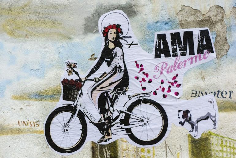 Love Palermo – Saint Rosalia cycling on Palermo Streets