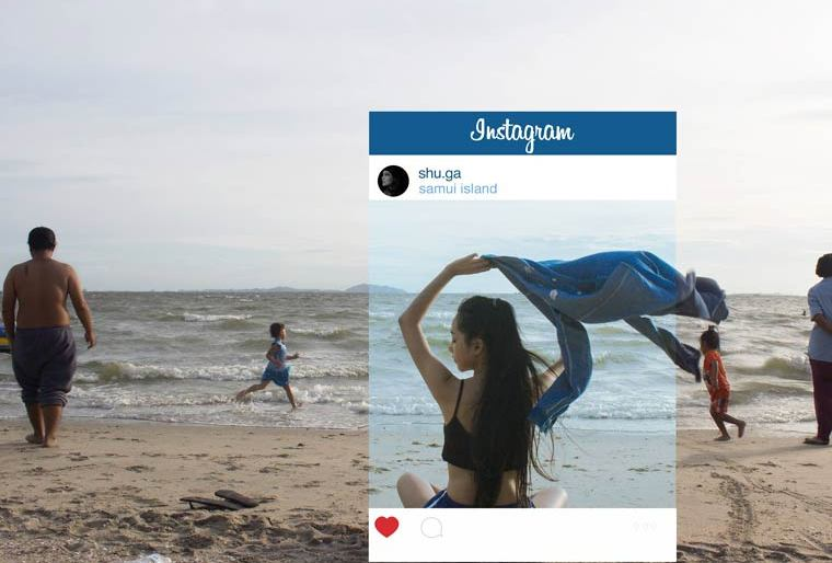What's Behind the Instagram photos by Chompoo Baritone