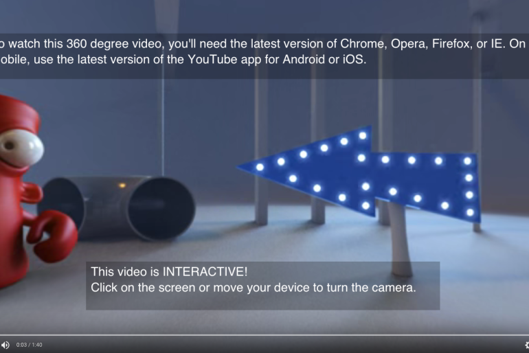 The First Interactive 360° Video on Youtube –  DO NOT Push The Red Button