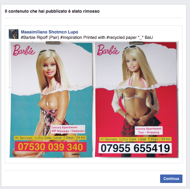 Facebook Banned Me And Removed definitively my Page - Art is Not PornImage2