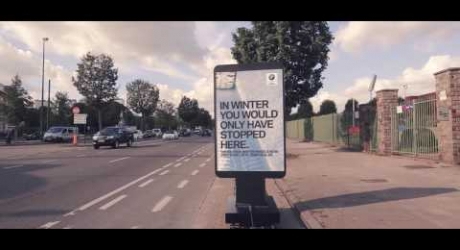 The Moving Billboard – Ambient Marketing by Bmw
