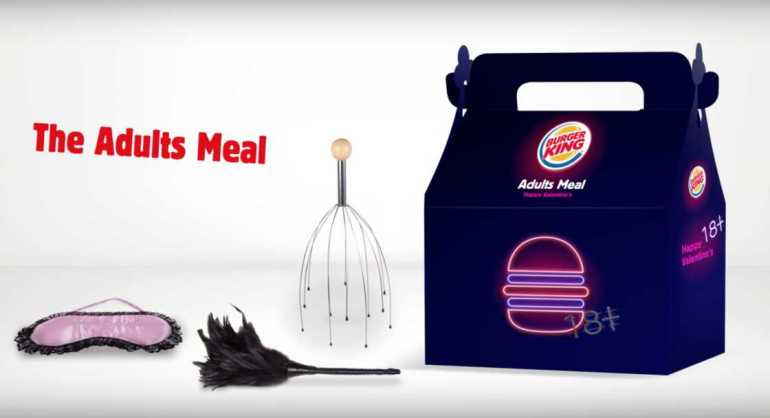 The Adults Meal Menu – Burger King