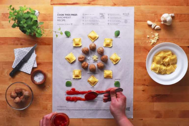 Cook this Page – Ikea invents clever posters to cook!
