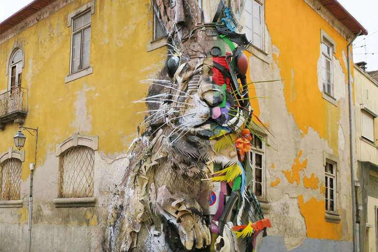 StreetArt with Trash – The Awesome creations by Bordalo II