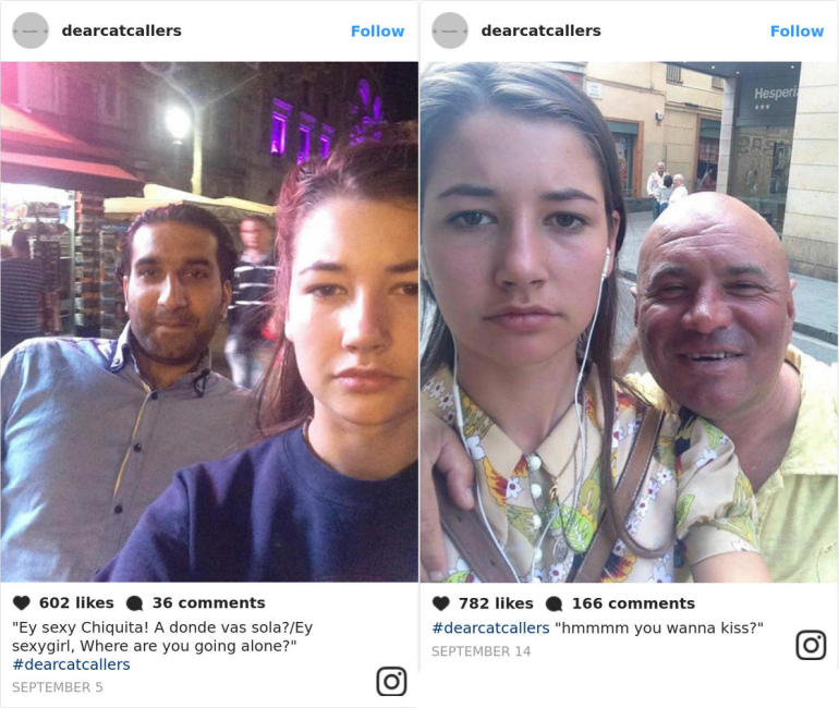Street harassment – Taking selfies to denounce her catcallers