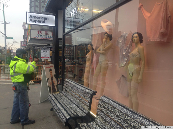 Female Mannequins with Bush -  Shock Ambient by American Apparel