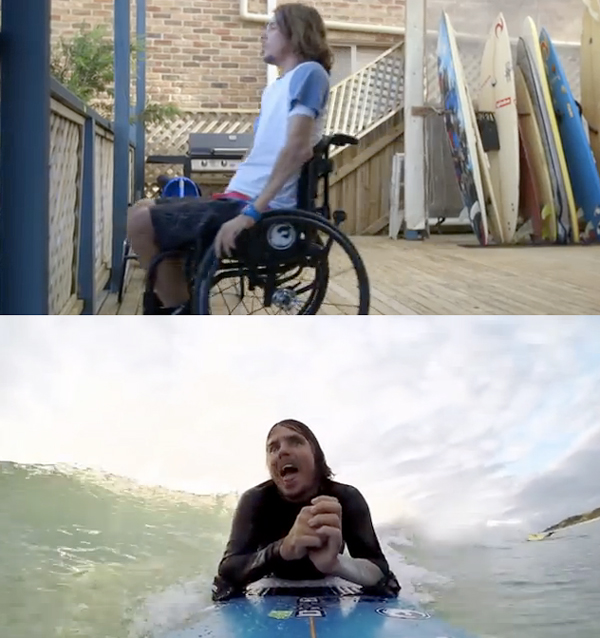 Surfing Without the Use of His Legs And Limited Use of His Arms - Red Bull & Barney Miller for Wings for Life World