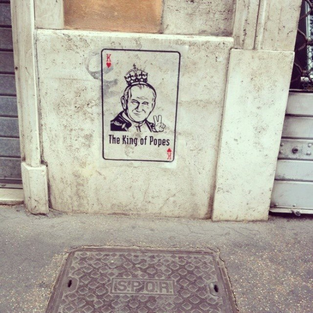 The King of Popes - Celebrating Canonization On the Street Rome