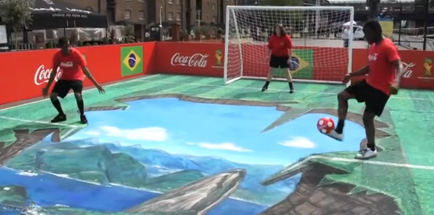 Amazing 3D StreetArt to celebrate 2014 Fifa World Cup
