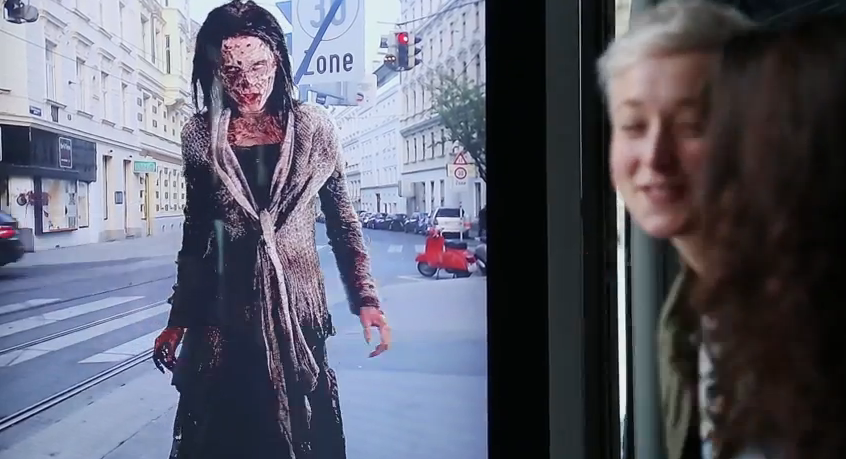 Zombie Attack in Bus Stop – The Walking Dead Ambient