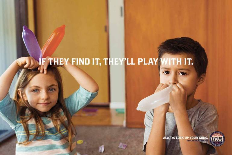 If they Find It, They'll play with it – Lock Up Your Guns – Social Campaign by Evolve