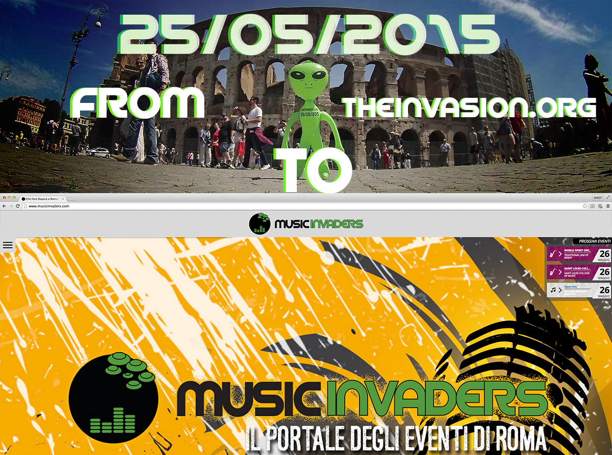 TheInvasion.org Reveal – Welcome Music Invaders The New Events Portal in Rome