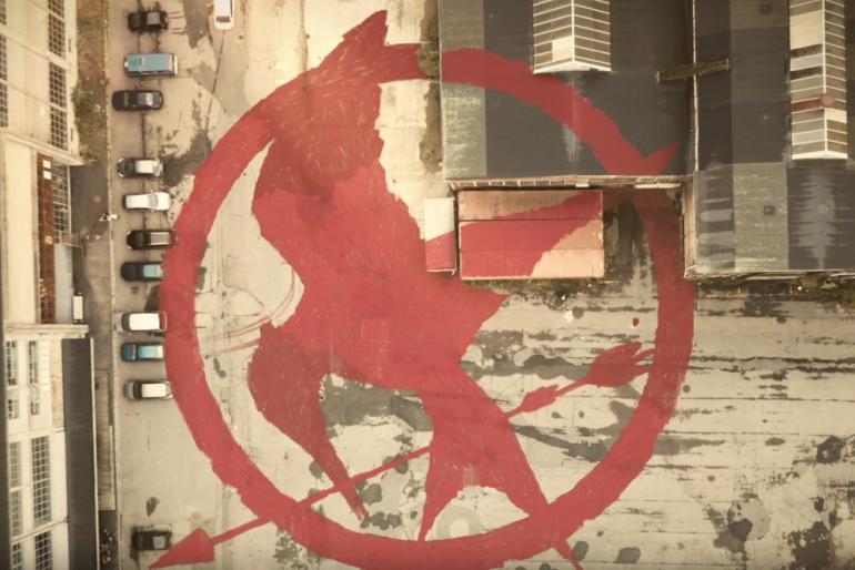 The Giant Mockingjay in Copenhagen – Guerrilla Marketing
