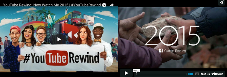 2015 Year in Review – Facebook VS Youtube