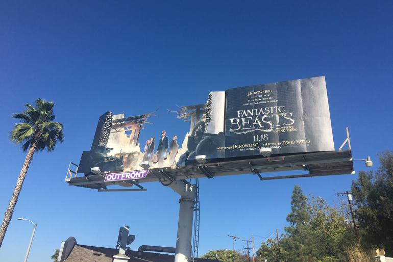 Fantastic Beasts Creative Billboard installation by Warner Bros
