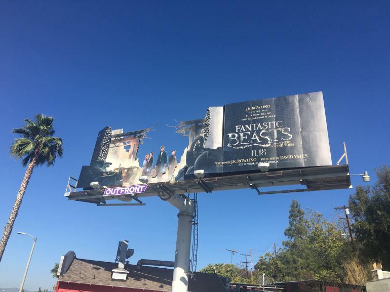 Fantastic Beasts Creative Billboard installation by Warner Bros