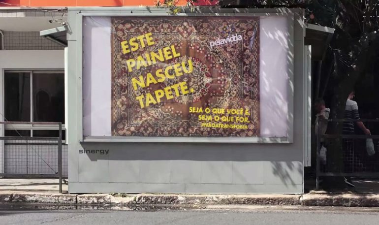 Recycled Objects Become Billboard against Transphobia – Guerrilla Marketing in Brazil