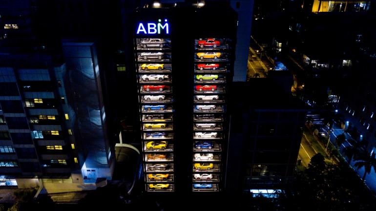 """The world's largest luxury car """"vending machine"""" – Ambient & Viral Marketing"""