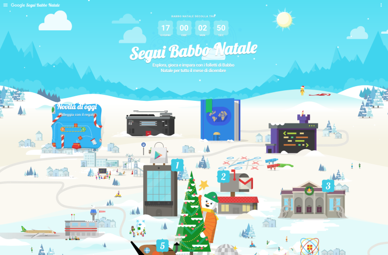 Google Santa Tracker – Play with Interactive Map