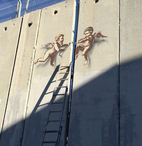 """Peace On Earth"" & ""Angels"" – Two New Pieces by Banksy in Bethlehem for ""The Alternativity"""