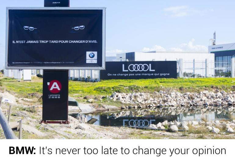 Audi LOOOOL – Creative BillBoard in Tunisia