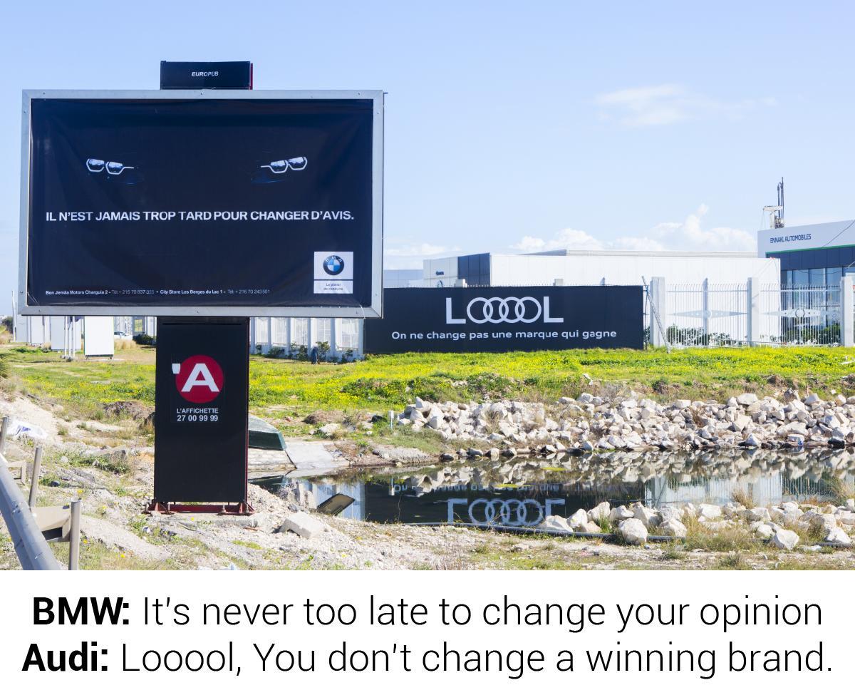 Audi LOOOOL – Creative BillBoard in Tunisia